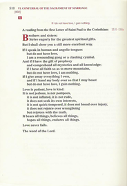 1 Corinthians 13 Wedding Reading.The Occasional Lector S Notes On 1 Corinthians 13 Love Is Patient