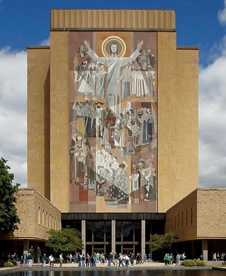 Word of Life mural at Notre Dame University