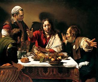 Caravaggio's 1601 <em>Supper at Emmaus</em>