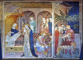 Lorenzo e Jacopo Salimbeni - The Life of John the Baptist [1416]. Urbino, Marche, Italy, Oratorio of San Giovanni Battista