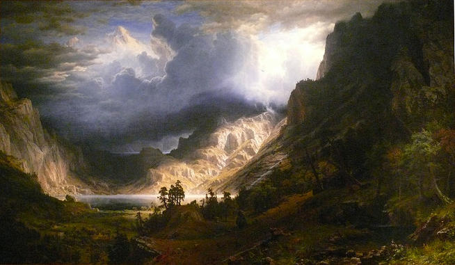 Albert Bierstadt, A Storm in the Rocky Mountains, Mt Rosalie