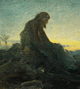 Christ in the Wilderness, Ivan Kramskoi