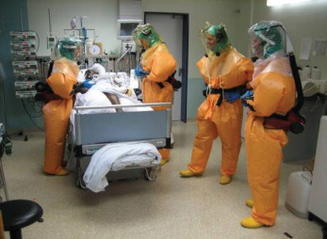 isolation unit in a hospital