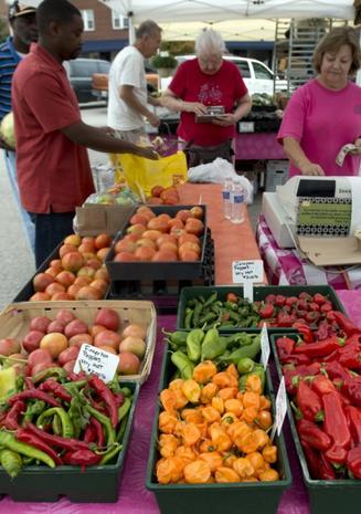 A bountiful harvest for sale in Ferguson, Missouri's Farmers' Market