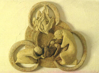 Merciful Trinity, sculpture by artist unknown