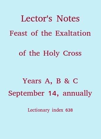 September 14, Exaltation of the Holy Cross