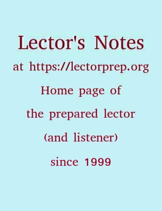 Lector's Notes at http://lectorprep.org