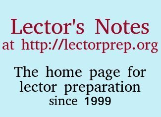 Lector's Notes