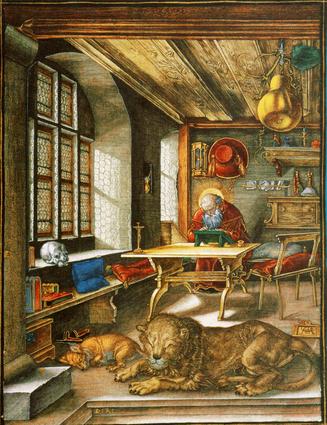 Albrecht Durer, Saint Jerome in his study.