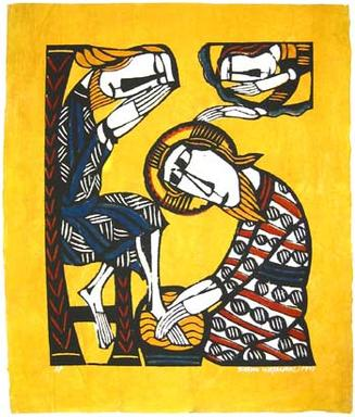 Sadao Watanabe, Christ washing the feet of Peter