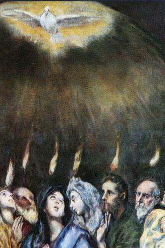 detail from El Grego's Pentecost, ca. 1600